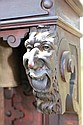 ORNATELY CARVED GERMAN WALNUT TALL CLOCK,
