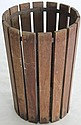 OAK ARTS & CRAFTS WASTE BASKET WITH