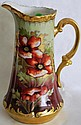 PORCELAIN HANDLED PITCHER BY LIMOGES,