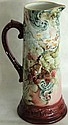 TALL HAND PAINTED PORCELAIN TANKARD JUG,