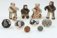 Group of Pueblo miniatures