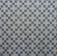 AMERICAN FIRST-HALF 20th-CENTURY SQUARE PATTERN QUILT
