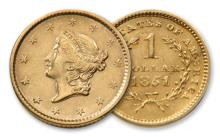 $ 1 Gold Liberty Us Minted Coin-