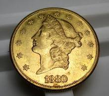 1880 s $ 20 Gold Liberty Double Eagle