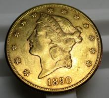 1890 s $ 20 Gold Liberty Double Eagle