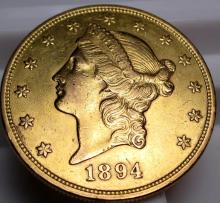 1894 s $ 20 Gold Liberty Double Eagle