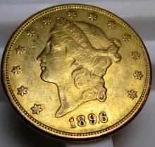 1896 s $ 20 Gold Liberty Double Eagle
