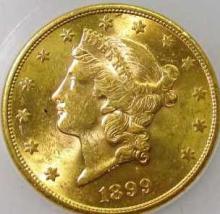 1899 S  $ 20 Gold Liberty