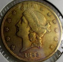 1892 S $ 20 Gold Liberty Double Eagle