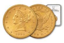 1894 MS 62 NGC $ 10 Liberty Gold Eagle