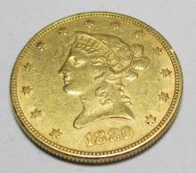 1880 P $ 10 Gold Liberty
