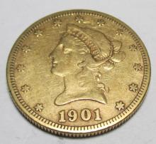 1901 s $ 10 Gold Liberty