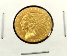1910 $ 2.5 Gold Indian - Quarter Eagle