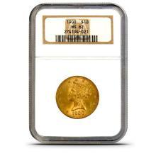 1900 MS 62 $ 10 Gold Liberty NGC