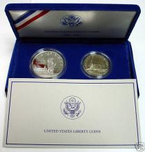 1986 2 Pc. Set Statue of Liberty Proof