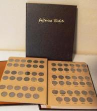 Jefferson Nickel Set 1938-64 In Holder