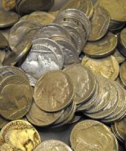 Lot of 100 Buffalo / Indian Head Nickels -RD
