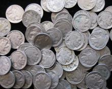 100 RD Buffalo / Indian Head Nickels