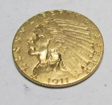 1911 s $ 5 Gold Indian