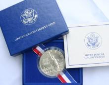 1986 SIlver Statue of Liberty Commemorative $1