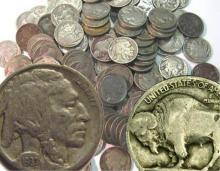 Lot of (100) FULL DATE Buffalo Nickels