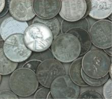 Lot of (100) Steel WW II Cents