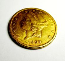1899 S $ 20 Gold Liberty Double Eagle