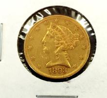 1893 $ 5 Gold Liberty Better Date