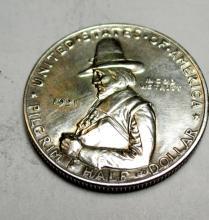 1921 D Pilgrim Silver Commemorative