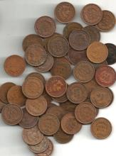 (50) Indian Head Cents -