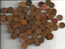 (100) Indian Head Cents - AG-VG