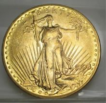 1908 NM $ 20 Gold Saint Gauden's Double Eagle
