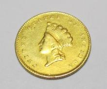 1855 $ 1 Gold Princess -