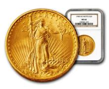 1908 MS 64 NGC or PCGS $20 Gold Saintt Gauden's
