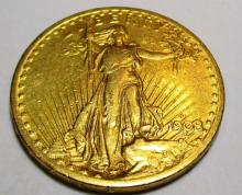 1908 D $ 20 Gold Saint Gauden's Double Eagle