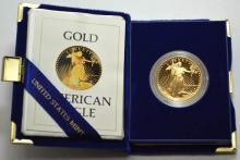 1986 W Gold Eagle Proof in Mint Case
