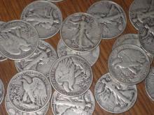 Lot of 20 Walking Liberty Halves 1930-40's