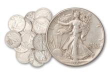 Lot of (20) Walking Liberty Half Dollars -90% Sil.