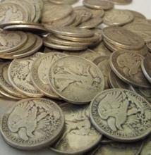 (50) Walking Liberty Half Dollars 90% Silver Lot