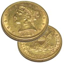 1882  $5 Gold Liberty Half Eagle