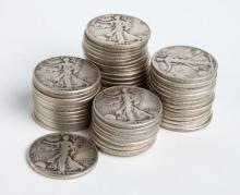 (60) Walking Liberty Half Dollars