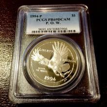 1994 P - Proof 69 DCAM PCGS POW Silver -