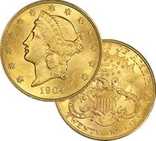 1904 $ 20 Gold Liberty Double Eagle