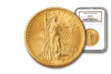 1908 MS 63 NGC or PCGS $ 20 Gold Saint Gauden's