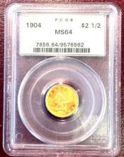 1904 MS 64 $ 2.5 Gold Liberty PCGS