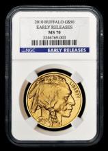 2010 Early Release MS70 1 oz Gold Buffalo