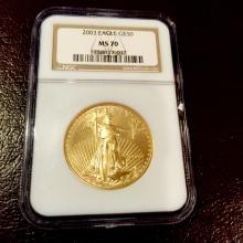 2003 MS 70 PERFECT US Gold Eagle NGC