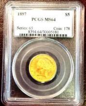 1897 MS 64 $ 2.5 Gold Liberty OCGS