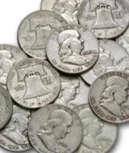 (20) Franklin Half Dollars 90% Silver $10 face