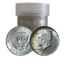 Roll of 90% Kennedy Half Dollars - 1964